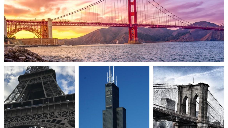 Construcciones más emblemáticas del mundo hechas de hierro y/o acero.